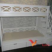 Для дома и интерьера ручной работы. Ярмарка Мастеров - ручная работа Двухъярусная кровать. Handmade.