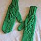 Set knitted Emerald for Irina, scarf - snud, bandage and mittens. Headwear Sets. (Milena-Pobedova) (Milena-Pobedova). My Livemaster. Фото №6