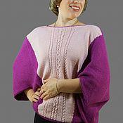 Одежда ручной работы. Ярмарка Мастеров - ручная работа Джемпер женский Фуксия из итальянской шерсти Альпаки. Handmade.