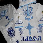 Крестильные наборы с машинной вышивкой