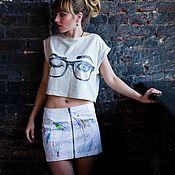 """Одежда ручной работы. Ярмарка Мастеров - ручная работа Дизайнерский топ  """"Upping eyes"""" by Lika Mellow. Handmade."""