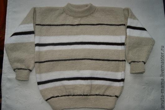 Одежда для мальчиков, ручной работы. Ярмарка Мастеров - ручная работа. Купить Свитер для мальчика из шерсти. Handmade. В полоску, для мальчика