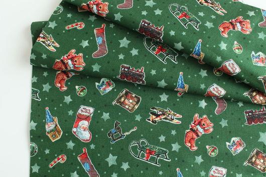 """Шитье ручной работы. Ярмарка Мастеров - ручная работа. Купить Ткань  """"Новогодняя тема"""". Handmade. Ткань, панель ткань, елочка"""