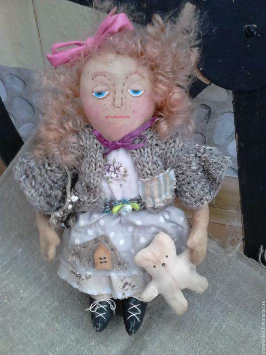 Ароматизированные куклы ручной работы. Ярмарка Мастеров - ручная работа. Купить Чердачная кукла Офелия. Handmade. Синий, состаренная кукла