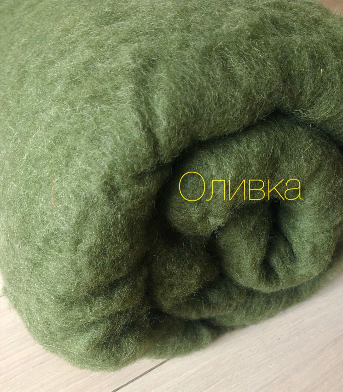 Bergshav.Olive. .100g -280R, Wool, Moscow,  Фото №1