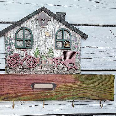 For home and interior handmade. Livemaster - original item Housekeeper house with the bike. Handmade.