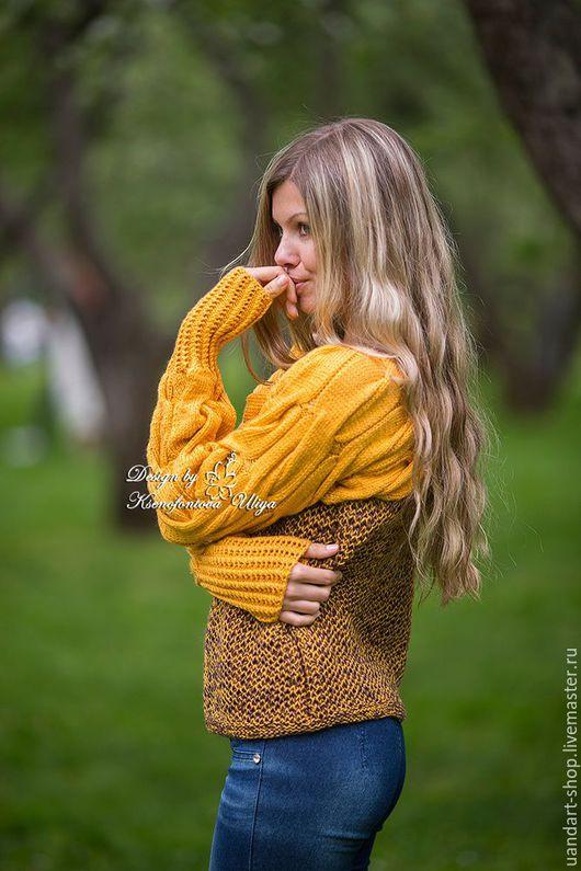 Кофты и свитера ручной работы. Ярмарка Мастеров - ручная работа. Купить Авторский вязаный свитер  SKU 2003 mix. Handmade.