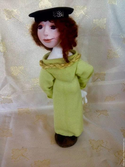 Коллекционные куклы ручной работы. Ярмарка Мастеров - ручная работа. Купить Не покажу..... Handmade. Салатовый, полимерная глина