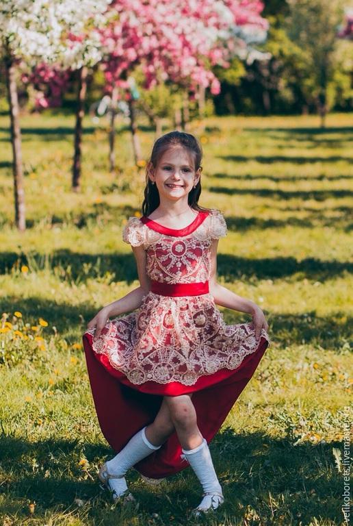 """Одежда для девочек, ручной работы. Ярмарка Мастеров - ручная работа. Купить Детское Платье """" Тюльпан 1 """". Handmade."""