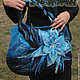 Bag felted 'In the color of the sea', Classic Bag, Slavsk,  Фото №1