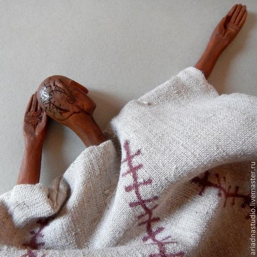 """Коллекционные куклы ручной работы. Ярмарка Мастеров - ручная работа. Купить """"Сон Воина"""", интерьерная этно-кукла.. Handmade. Коричневый"""