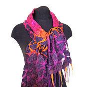 Аксессуары ручной работы. Ярмарка Мастеров - ручная работа Мозаика 13 Войлочный шарфик. Handmade.
