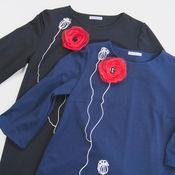 Одежда ручной работы. Ярмарка Мастеров - ручная работа платье МАК уно. Handmade.