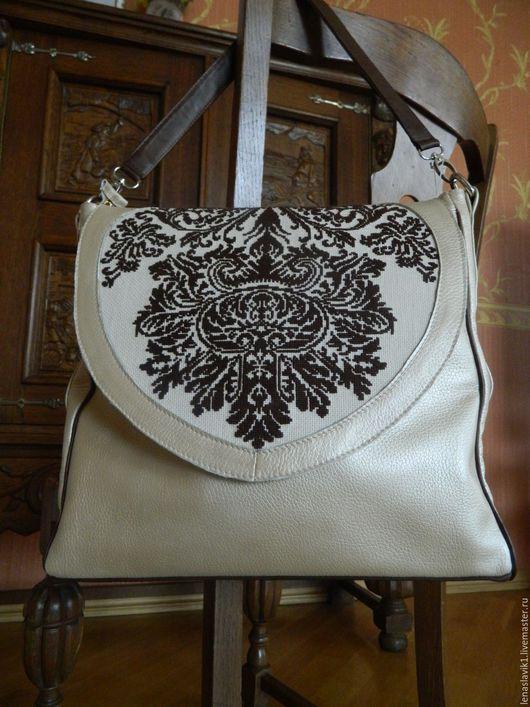 """Женские сумки ручной работы. Ярмарка Мастеров - ручная работа. Купить сумка женская """"мехенди"""". Handmade. Бежевый, стильная сумка"""