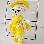 Куклы и игрушки handmade. Livemaster - original item Girl Bunny-lemon in a dress, hat and shoes. .. Handmade.