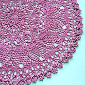 Для дома и интерьера ручной работы. Ярмарка Мастеров - ручная работа Кружевная салфетка брусничного цвета. Handmade.