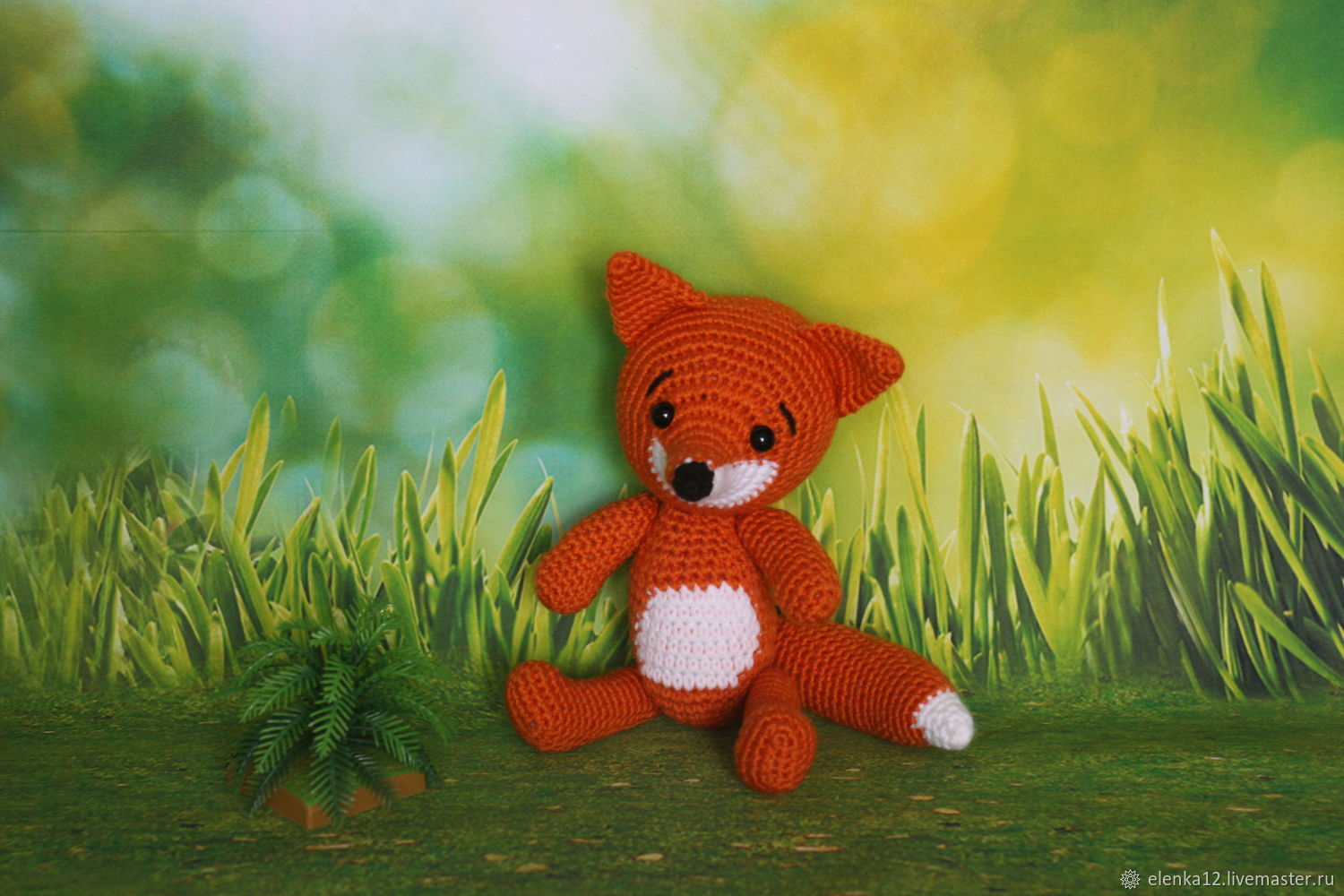 Toys: Knitted toy Fox, Stuffed Toys, St. Petersburg,  Фото №1