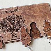 Для дома и интерьера ручной работы. Ярмарка Мастеров - ручная работа Ключница настенная из дерева. Handmade.
