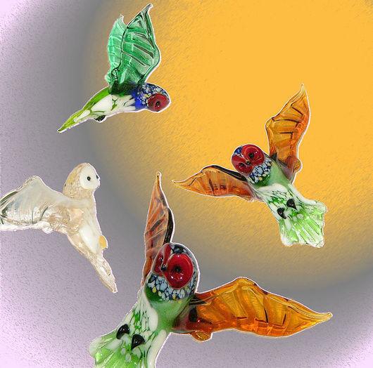 Interior Items handmade. Livemaster - handmade. Buy Interior hanging decoration stained glass bird Owl.Owl, glass