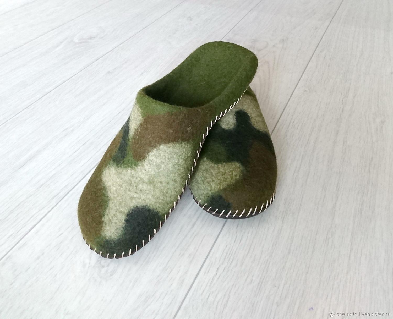 Slippers-felted Slippers mens, Slippers, Leninsk-Kuznetsky,  Фото №1