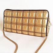 Свадебный салон handmade. Livemaster - original item Clutch gold, evening gold handbag. Handmade.