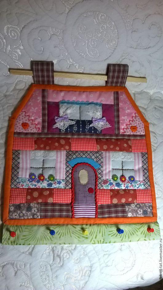 Текстиль, ковры ручной работы. Ярмарка Мастеров - ручная работа. Купить Лоскутное панно-ключница. Handmade. Комбинированный
