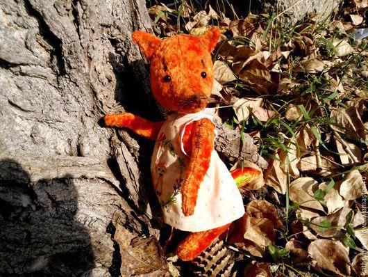 Мишки Тедди ручной работы. Ярмарка Мастеров - ручная работа. Купить Лисичка Тедди Лизонька. Handmade. Рыжий