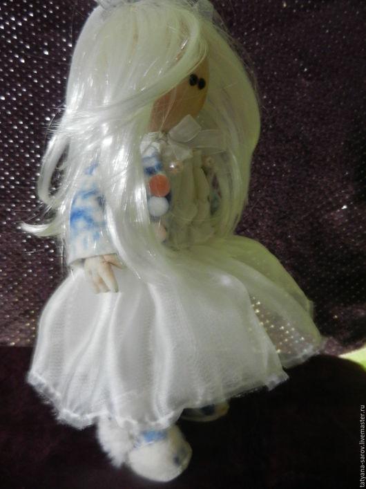 Коллекционные куклы ручной работы. Ярмарка Мастеров - ручная работа. Купить Дыхание зимы. Текстильная кукла.. Handmade. Белый, в подарок