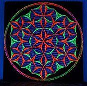 """Картины и панно ручной работы. Ярмарка Мастеров - ручная работа Мандала из ниток """"Цветок жизни"""". Handmade."""