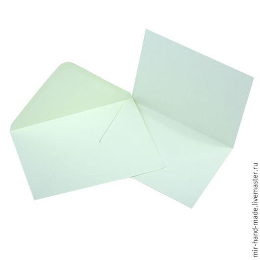 """Открытки и скрапбукинг ручной работы. Ярмарка Мастеров - ручная работа. Купить Заготовка для открытки с конвертом А6, зеленый, """"Craft Premier"""". Handmade."""