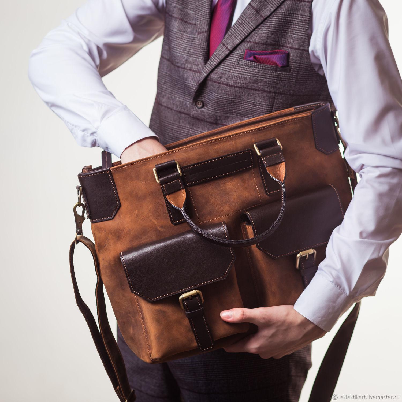 Кожаная деловая сумка, Классическая сумка, Санкт-Петербург,  Фото №1