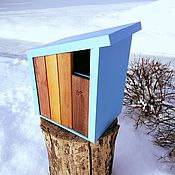 Для дома и интерьера handmade. Livemaster - original item Birdhouse with a blue roof. Handmade.