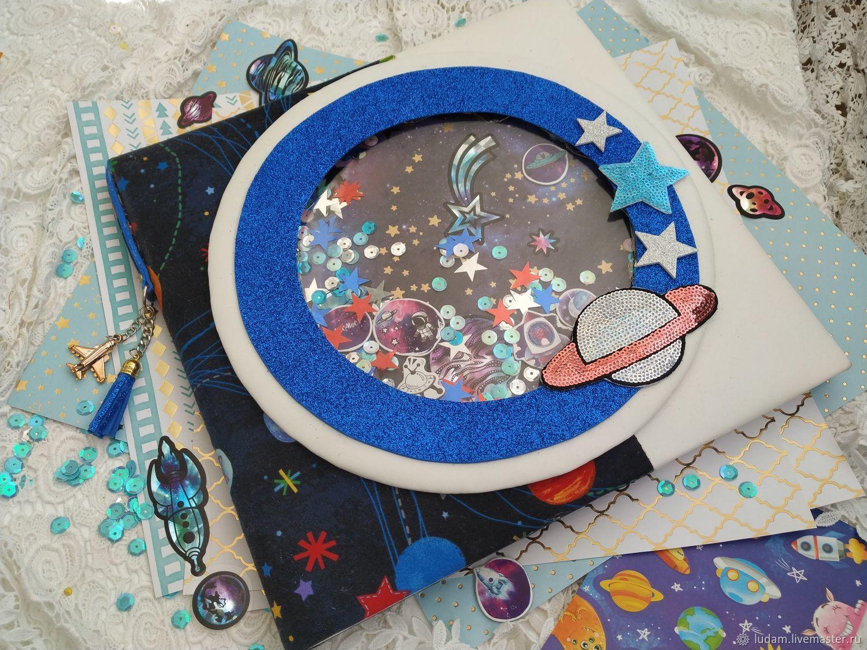 Фотоальбом с подсветкой для мальчика Космос, Фотоальбомы, Москва, Фото №1