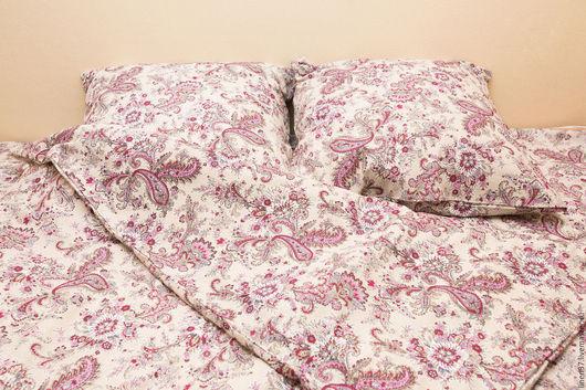 Текстиль, ковры ручной работы. Ярмарка Мастеров - ручная работа. Купить Комплект постельного белья (КПБ) - Постельное белье лен. Handmade.