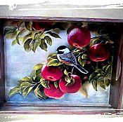 """Для дома и интерьера ручной работы. Ярмарка Мастеров - ручная работа Поднос """"Летний"""". Handmade."""