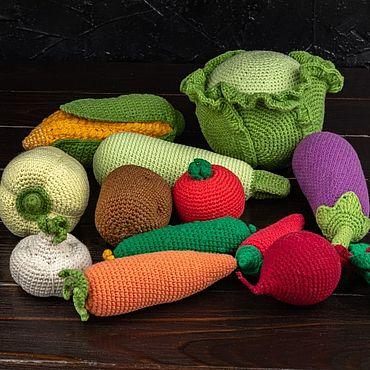 Куклы и игрушки ручной работы. Ярмарка Мастеров - ручная работа Набор Овощи. Handmade.