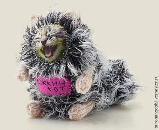 Персональные подарки ручной работы. Ярмарка Мастеров - ручная работа. Купить игрушка Ёжкин кот. Handmade. Котик, кот