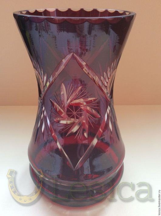Винтажные предметы интерьера. Ярмарка Мастеров - ручная работа. Купить Вазочка рубиновое цветное стекло Германия. Handmade. Ваза, германия
