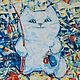 Acrylic painting Happy cat, Pictures, Voronezh,  Фото №1