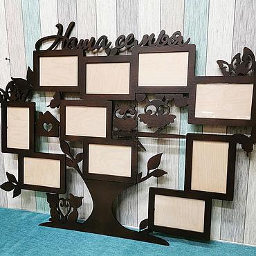 Для дома и интерьера ручной работы. Ярмарка Мастеров - ручная работа Фоторамка семейное дерево. Handmade.
