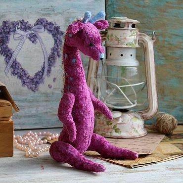 Куклы и игрушки. Ярмарка Мастеров - ручная работа Маргарита тедди жирафка. Коллекционная игрушка.. Handmade.