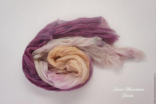 Шарфы и шарфики ручной работы. Ярмарка Мастеров - ручная работа. Купить Шарф батик Листопад, шелковый шарф в стиле бохо. Handmade.