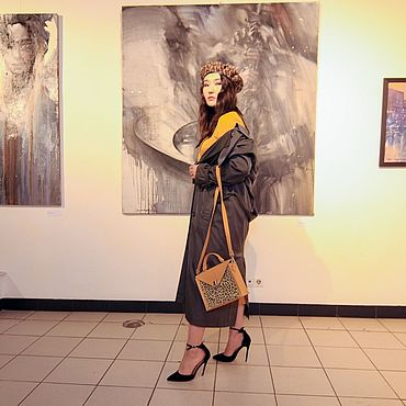 Сумки и аксессуары ручной работы. Ярмарка Мастеров - ручная работа -30% Кожаная сумка Get с кожаным ремнём. Handmade.