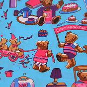 """Материалы для творчества ручной работы. Ярмарка Мастеров - ручная работа Плащевка Оксфорд """"Медвежий праздник"""". Handmade."""