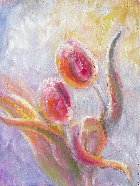 """Картина """"Цветочный вальс"""" холст масло,  оргалит 15х20 см, Картины цветов, Кишинев, Фото №1"""