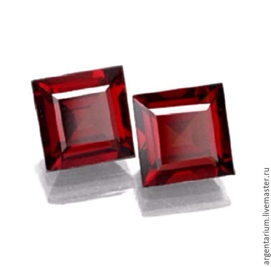 Для украшений ручной работы. Ярмарка Мастеров - ручная работа. Купить Фианит (кубик циркония) 5мм, 6мм каре красный. Handmade.