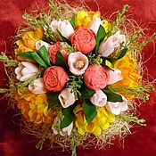 handmade. Livemaster - original item Fragrant soap composition in the basket. Handmade.