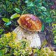 Пейзаж ручной работы. Ярмарка Мастеров - ручная работа. Купить Царь Грибов. Handmade. Разноцветный, трава, ягоды и листья