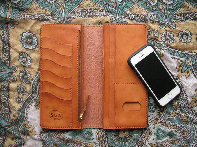 Man\'s big-sized wallet. Engraved clutch – shop online on Livemaster ...