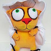 Куклы и игрушки handmade. Livemaster - original item Soft toy red plush cat in sheep`s clothing. Handmade.